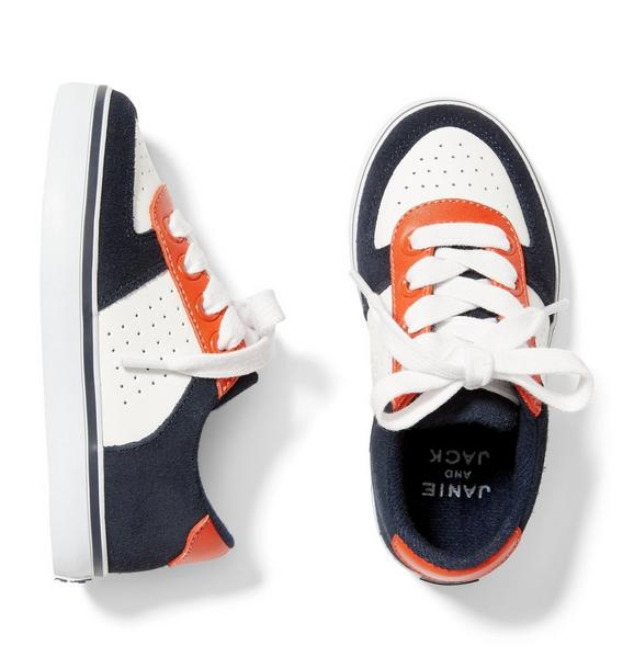 Colorblock Lace-Up Sneaker