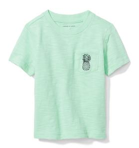 Slub Pineapple Pocket Tee