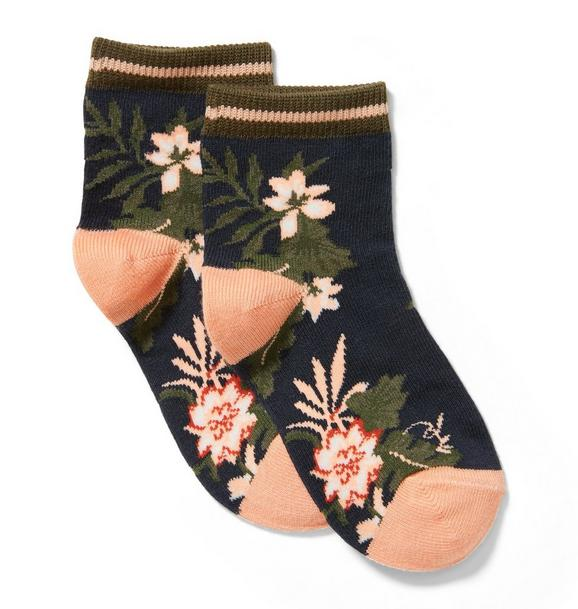 Tropical Floral Sock