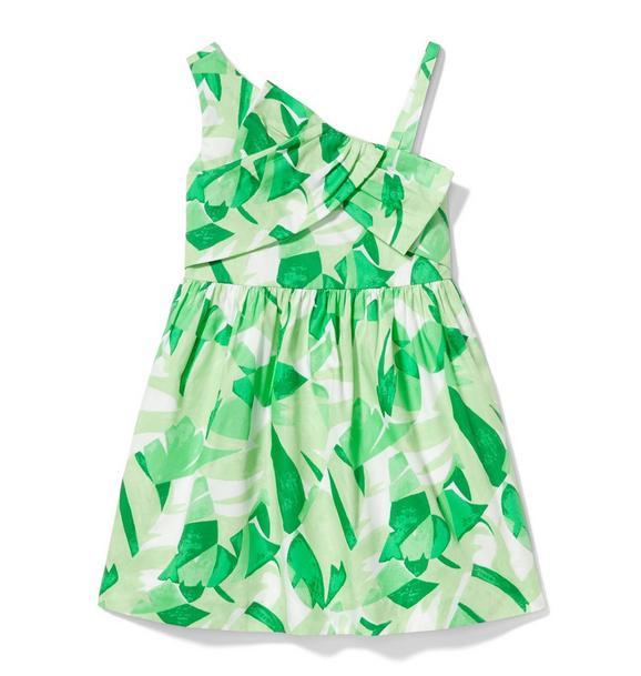 Palm One-Shoulder Dress