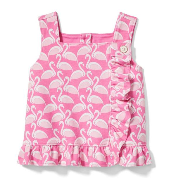 Flamingo Ruffle Top