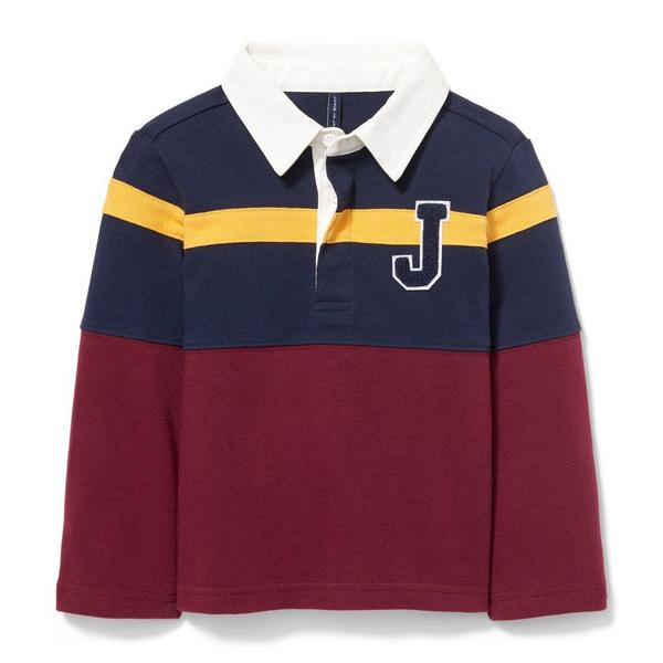 Colorblocked Patch Rugby Shirt by Janie And Jack