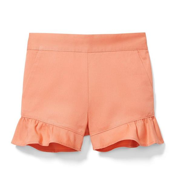 Ruffle Trim Pull-On Short