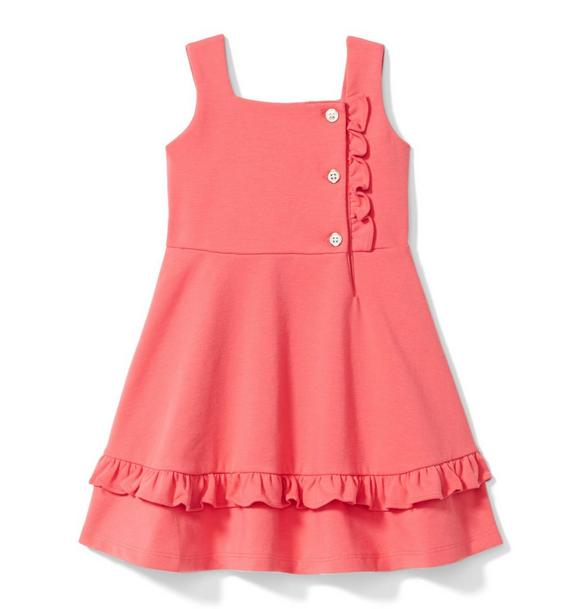 Ruffle Ponte Dress
