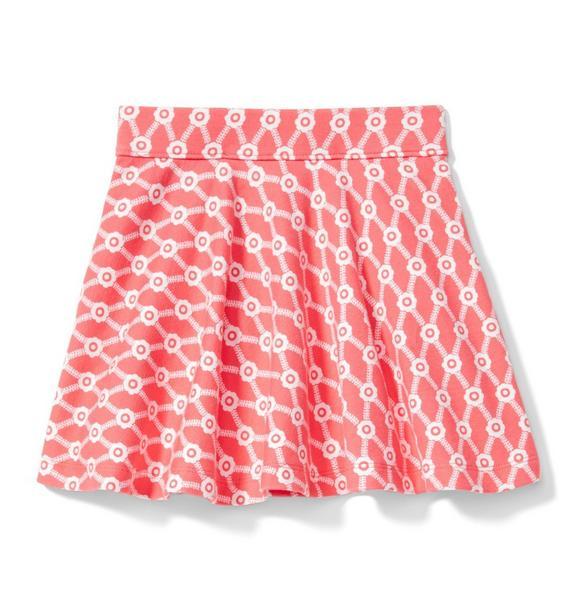 Floral Ponte Skirt