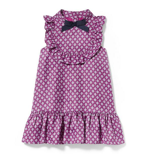 Geo Ruffle Dress