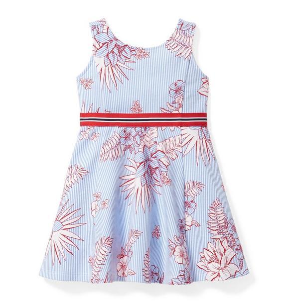 Floral Stripe Ponte Dress