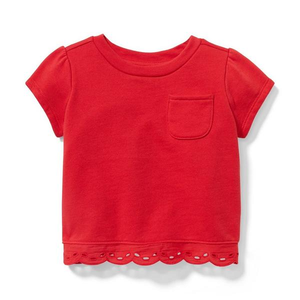 Eyelet Border Top by Janie And Jack