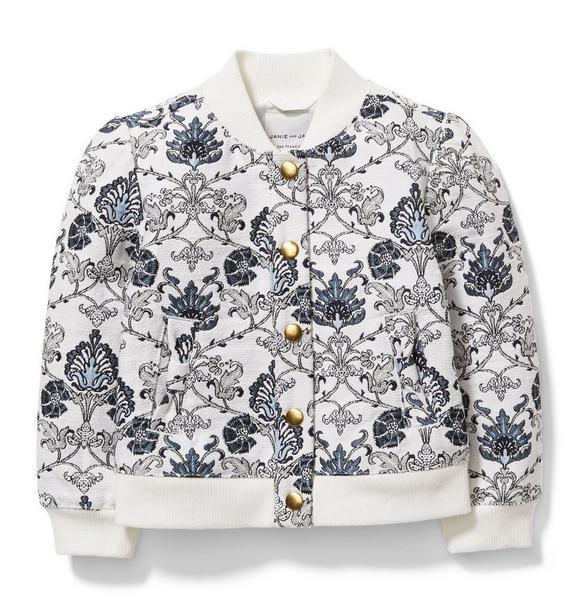 Floral Tapestry Bomber Jacket