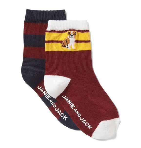 Striped & Bulldog Sock 2-Pack