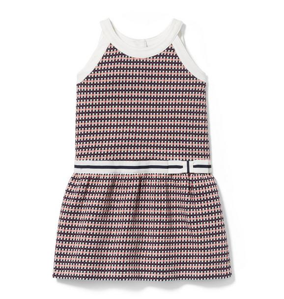 Plaid Jacquard Dropwaist Dress