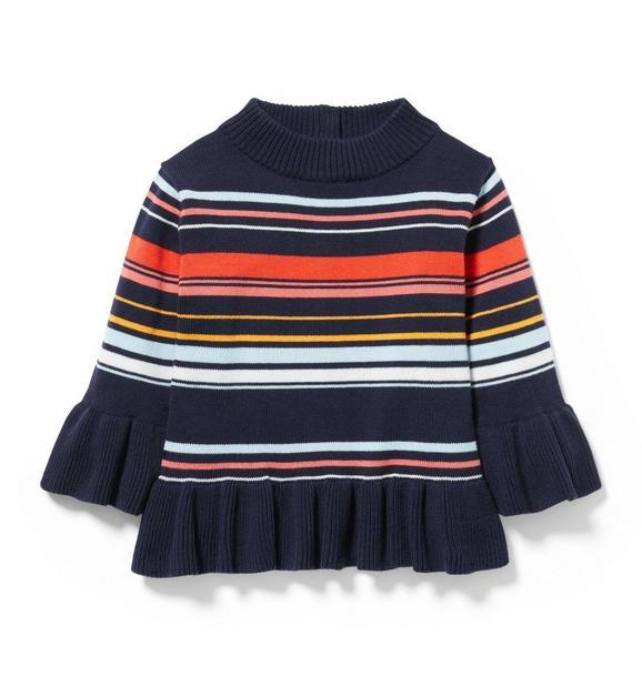 Striped Ruffle Sweater
