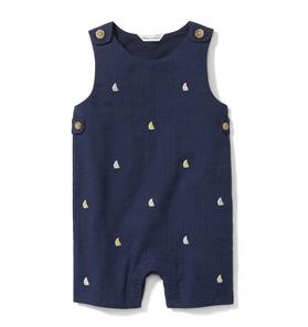 Embroidered Sailboat 1-Piece