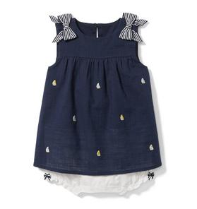 Embroidered Sailboat Dress 1-Piece