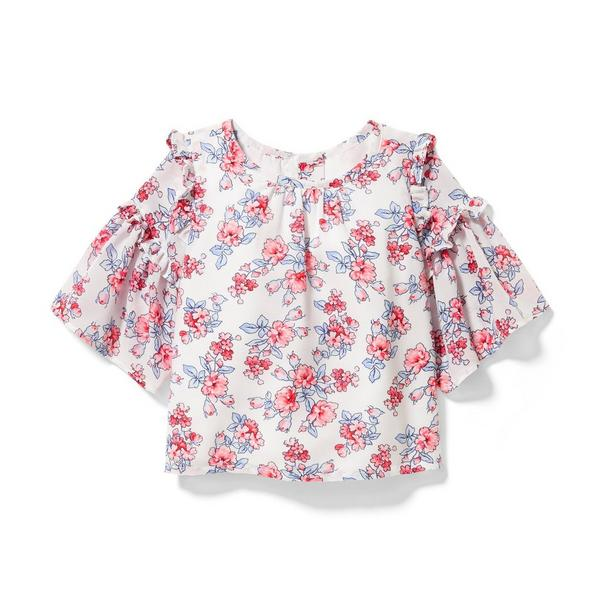 Floral Ruffle Top by Janie And Jack