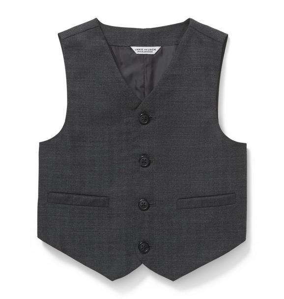 Wool Herringbone Suit Vest
