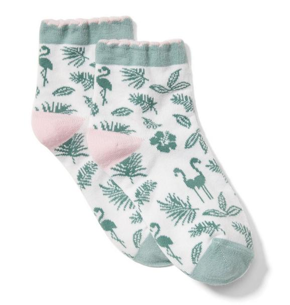 Flamingo Palm Sock
