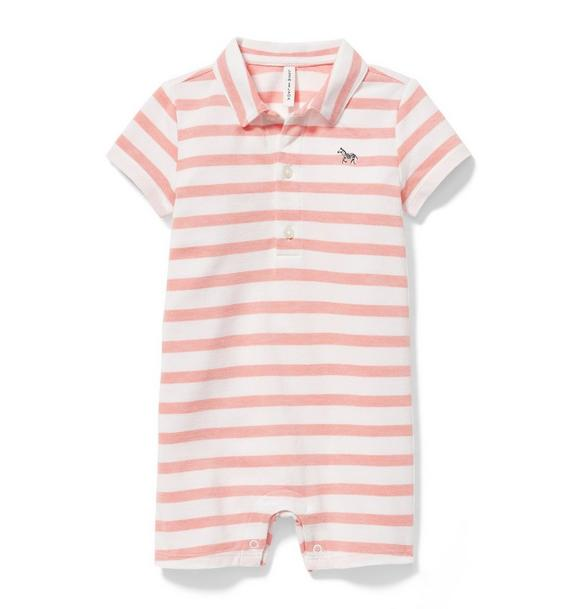 Striped Polo 1-Piece