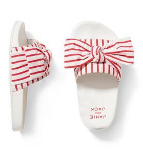 Striped Bow Slide