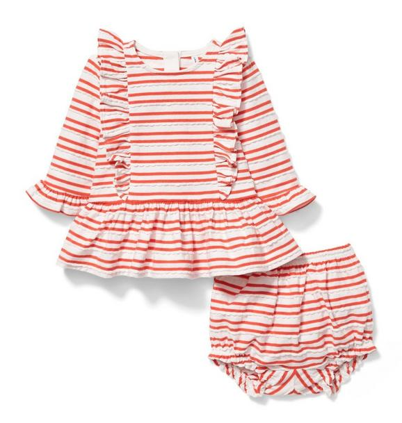 Ruffle Striped Matching Set