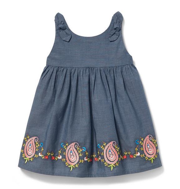 Paisley Border Dress