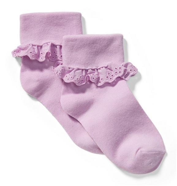 Eyelet Trim Sock