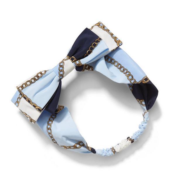 Chain Print Bow Headband