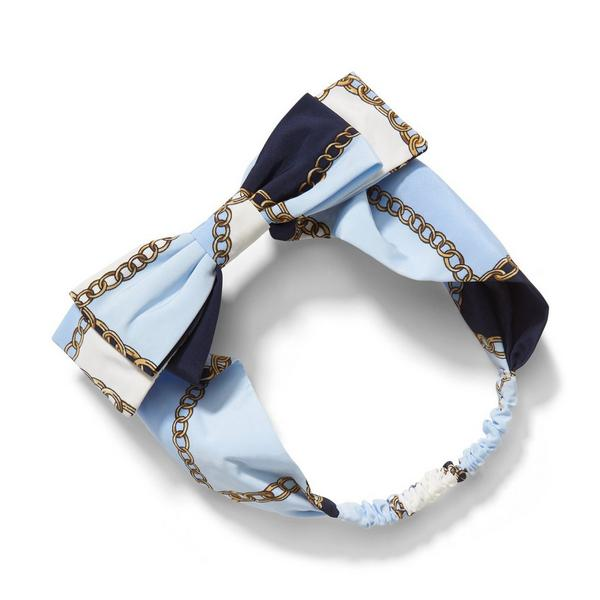 Chain Print Bow Headband by Janie And Jack