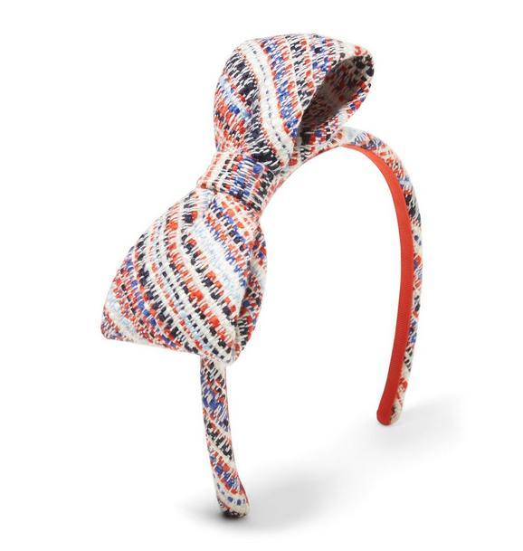 Tweed Bow Headband