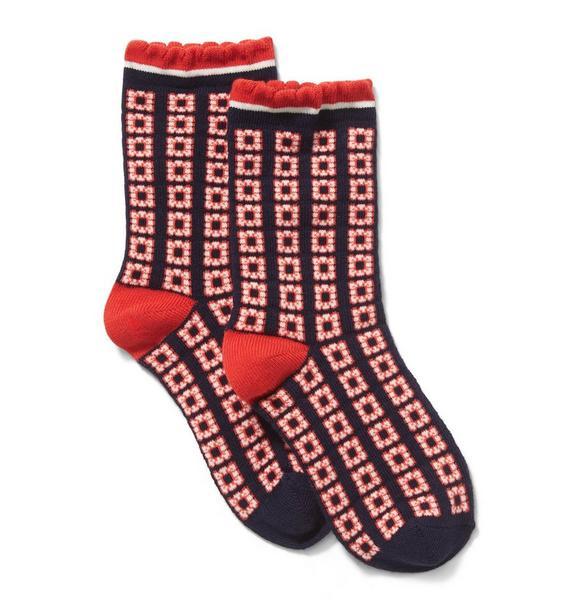 Geo Floral Sock