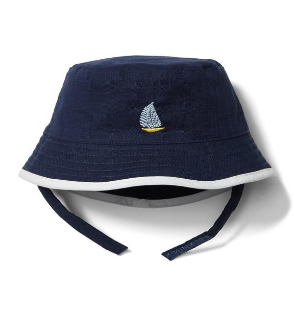Embroidered Sailboat Bucket Hat