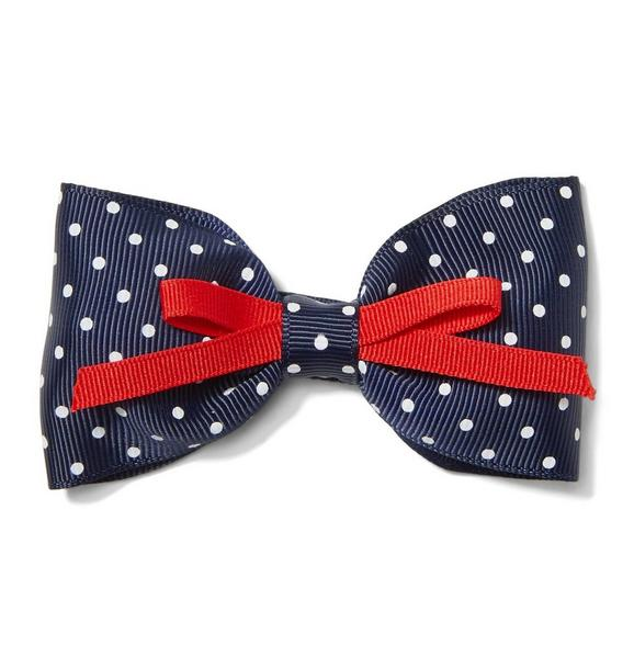 Double Bow Dot Barrette