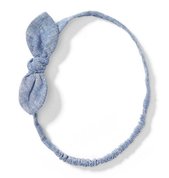 Chambray Bow Headband