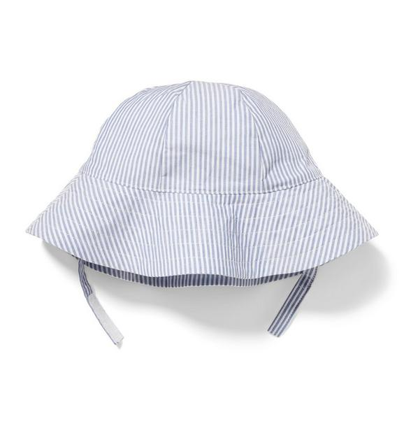 Striped Bow Bucket Hat