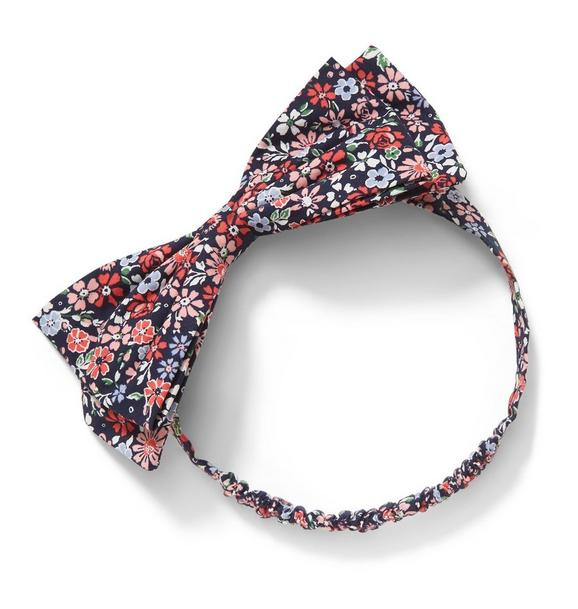 Mini Floral Soft Bow Headband
