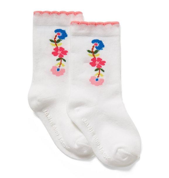 Floral Long Sock