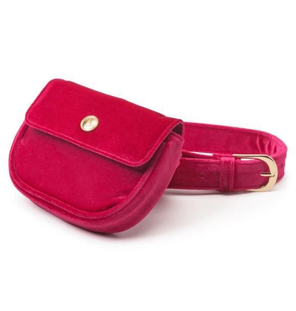 Juno Valentine Velvet Belt Bag