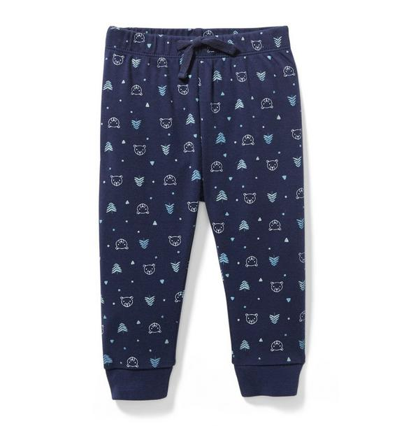 Bear and Tree Print Jogger