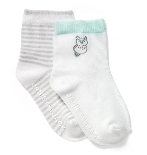 Stripe & Owl Sock 2-Pack