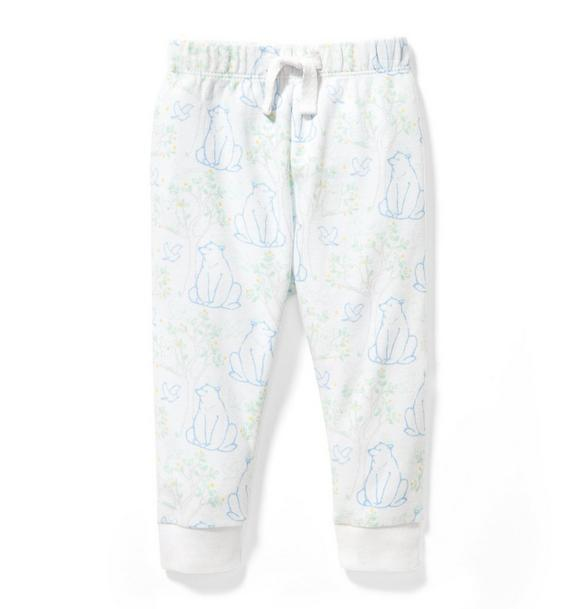 Forest Animal Print Jogger