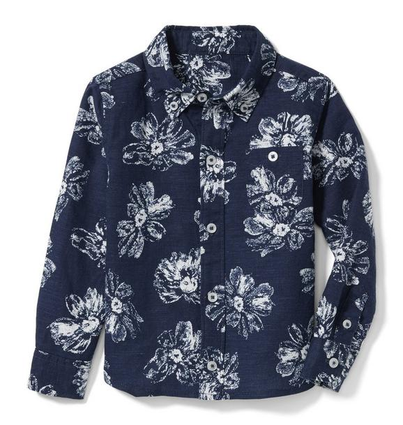 Hibiscus Linen Shirt