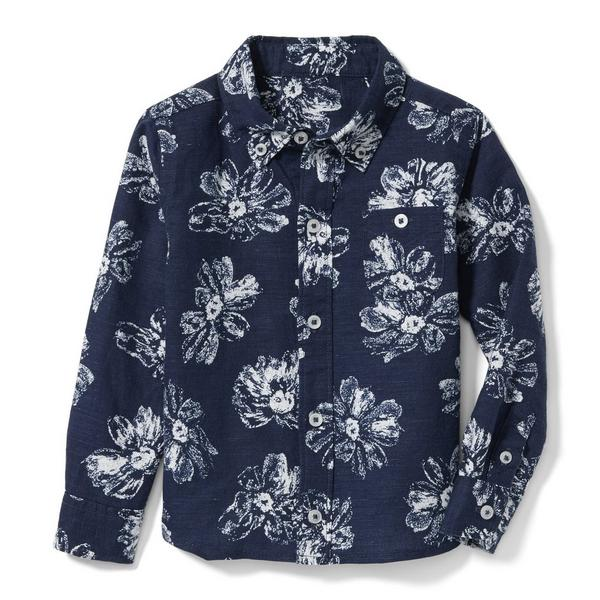 Hibiscus Linen Shirt by Janie And Jack