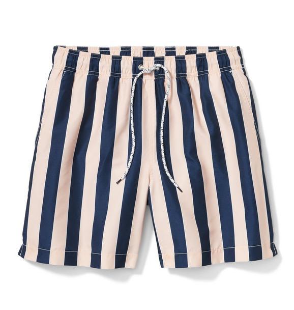 Men's Striped Swim Trunk