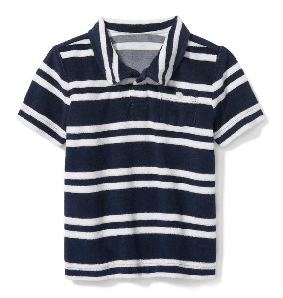 Striped Terry Polo