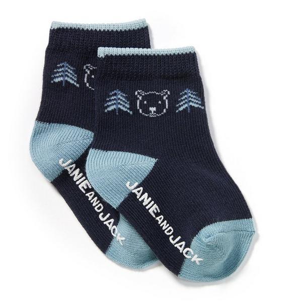 Bear and Tree Sock