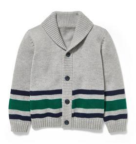 Striped Shawl Collar Cardigan