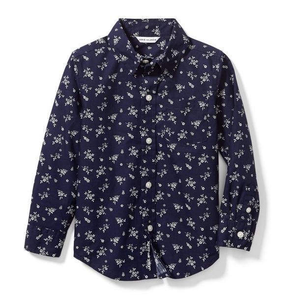 Floral Poplin Shirt