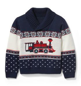 Train Shawl Collar Pullover