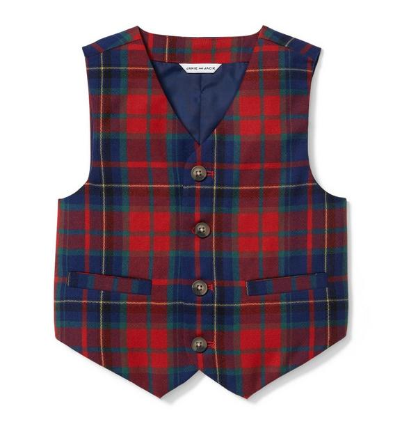 Plaid Wool Vest