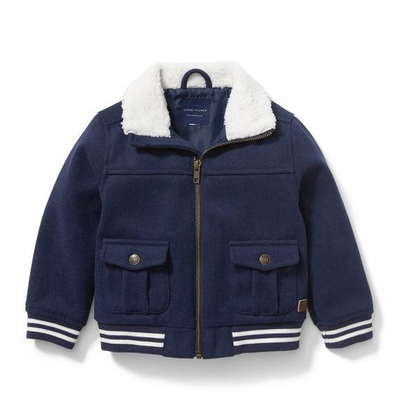 Sherpa Collar Bomber Jacket